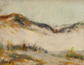Fine Art - Painting, American:Modern  (1900 1949)  , ALBERT LOREY GROLL (American, 1866-1952). Sand Dunes. Oil onboard. 3-3/4 x 5 inches (9.5 x 12.7 cm). Signed lower left:...