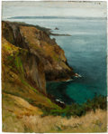 Fine Art - Painting, European:Antique  (Pre 1900), BRITISH SCHOOL (Late 19th/Early 20th Century). Le Moie duMouton, Sark, Guernsey. Oil on canvas. 10 x 8 inches (25.4 x2...