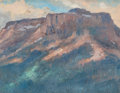 Fine Art - Painting, American:Modern  (1900 1949)  , ALBERT LOREY GROLL (American, 1866-1952). Rocky Butte. Oilon board. 3-3/4 x 5 inches (9.5 x 12.7 cm) . THE JEAN AND G...