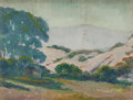 Fine Art - Painting, American:Modern  (1900 1949)  , ALBERT LOREY GROLL (American, 1866-1952). Mountain ValleyCottage. Oil on canvas laid on board. 3-3/4 x 5 inches (9.5 x...