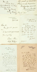 Autographs:Authors, British Authors. Large Group of Autograph and Typed Letters Signed. Includes George Reynolds, Henry de Vere Stacpoole, Arthu...