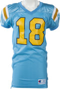 Football Collectibles:Uniforms, 1993-94 J.J. Stokes Game Worn UCLA Bruins Jersey, MEARS A10. ...