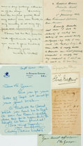 Autographs:Authors, Female British Authors. Large Group of Autographed and Typed Letters Signed. Includes Mabel Wotton, Charlotte Yonge, Rosamon...