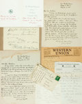 Autographs:Authors, American Poets. Large Group of Autographed and Typed Letters Signed. Includes John Farrar, Jeremy Ingalls, Lucy Larcom et al...