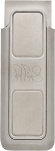 Baseball Collectibles:Others, 2010 Albert Pujols Money Clip Created to Commemorate 400th HomeRun....