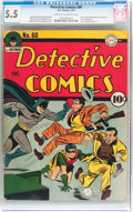 Golden Age (1938-1955):Superhero, Detective Comics #60 (DC, 1942) CGC FN- 5.5 Cream to off-white pages....