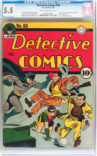 Detective Comics #60 (DC, 1942) CGC FN- 5.5 Cream to off-white pages