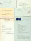 Autographs:Celebrities, Television/Radio/Film Personalities. Large Group of Autographed and Typed Letters Signed. Includes Charles Skouras, Alexande...