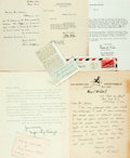 Autographs:Authors, Journalists and Business Writers. Large Group of Autographed andTyped Letters Signed. Includes Mary McCall, George William ...