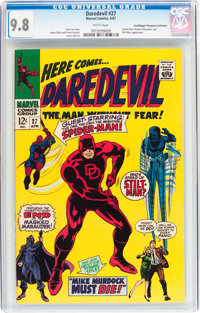 Daredevil #27 Don/Maggie Thompson Collection pedigree (Marvel, 1967) CGC NM/MT 9.8 White pages