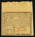 Colonial Notes:Rhode Island, Rhode Island June 1780 $1 Extremely Fine.. ...
