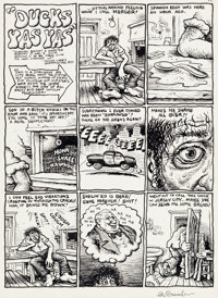 "Robert Crumb Zap Comix #0 Complete 3-Page Story ""Ducks Yas Yas"" Original Art (Apex Novelties, 1968).... (Total..."
