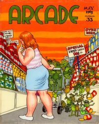 Robert Crumb Arcade #33 Cover Original Art (1963)