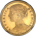 Chile, Chile: Republic gold Specimen 20 Pesos 1896-So SP64 NGC,...