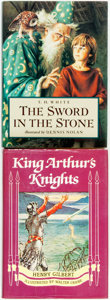 Books:Children's Books, [Children's]. Pair of Children's Books about the Myths of KingArthur and Merlin. Various publishers and dates. Octavos Some...(Total: 2 Items)