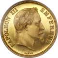 France, France: Napoleon III gold Proof Essai 100 Francs 1861 PR64 NGC,...
