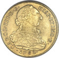 Colombia, Colombia: Charles III gold 8 Escudos 1783 NR-JJ MS62 NGC,...