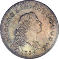 Early Half Dollars, 1795 50C 2 Leaves, O-110a, R.4, MS63+ PCGS Secure....