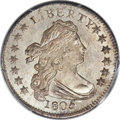 Early Dimes, 1805 10C 4 Berries, JR-2, R.2, MS67 PCGS Secure. CAC....