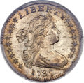 Early Half Dimes, 1797 H10C 16 Stars, V-4, LM-2, R.4, MS66 PCGS Secure....
