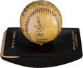 "Autographs:Baseballs, 1930 Babe Ruth & John McGraw Signed World Series ""Blotter"" Baseball...."