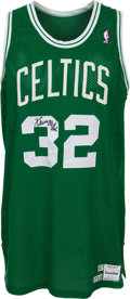 Basketball Collectibles:Uniforms, 1987-88 Kevin McHale Game Worn Boston Celtics Jersey, MEARS A10....