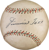 Early 1930's Jimmie Foxx Single Signed Baseball