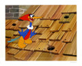 "Animation Art:Limited Edition Cel, ""Rooftop Woody Woodpecker"" Hand Painted Cel #148/200 Original Art(Walter Lantz Productions, 1991). In this hand inked and h...(Total: 2 Items)"
