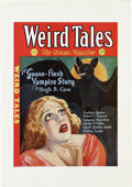 "Original Comic Art:Miscellaneous, Weird Tales Printer's Cover Proof (1932). Cover printer's proof forthe May, 1932 issue of ""The Unique Magazine,"" Weird Ta..."