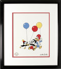 "Animation Art:Limited Edition Cel, ""Party Pals"" Limited Edition Serigraph Cel Original Art with Walter Lantz Signed Payroll Check (Walter Lantz Productions, 1997..."