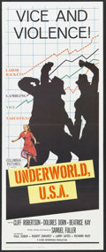 "Movie Posters:Crime, Underworld, U.S.A. (Columbia, 1960). Insert (14"" X 36""). Crime. Starring Cliff Robertson, Dolores Dorn, Beatrice Kay, Paul D..."
