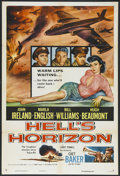 "Movie Posters:War, Hell's Horizon (Columbia, 1955). One Sheet (27"" X 41""). War.Starring John Ireland, Marla English, Bill Williams, Hugh Beaum..."