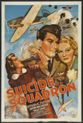 "Movie Posters:War, Suicide Squadron (Republic, 1941). One Sheet (27"" X 41""). War.Starring Anton Walbrook, Sally Gray, Derrick De Marney, Cecil..."