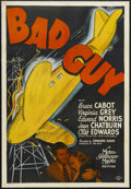 """Movie Posters:Crime, Bad Guy (MGM, 1937). One Sheet (27"""" X 41""""). Crime. Starring BruceCabot, Virginia Grey, Edward Norris, Jean Chatburn, Cliff ..."""