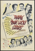 "Movie Posters:Musical, Thank Your Lucky Stars (Warner Brothers, 1943). One Sheet (27"" X 41""). Musical Comedy. Starring Humphrey Bogart, Eddie Canto..."