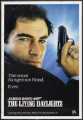 """Movie Posters:James Bond, The Living Daylights (United Artists, 1987). One Sheet (27"""" X 41"""")Advance. Action. Starring Timothy Dalton, Maryam d'Abo, J..."""