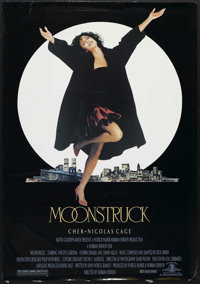 "Moonstruck (MGM, 1987). One Sheet (27"" X 41""). Romantic Comedy. Starring Cher, Nicolas Cage, Vincent Gardenia..."