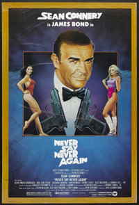 """Never Say Never Again (Warner Brothers, 1983). One Sheet (27"""" X 41"""") and Exhibitor Promo (14"""" X 17"""")..."""