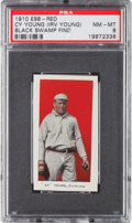 "Baseball Cards:Singles (Pre-1930), 1910 E98 ""Set of 30"" Cy Young, Red (Black Swamp Find) PSA NM-MT 8 -None Higher! ..."