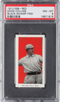 """Baseball Cards:Singles (Pre-1930), 1910 E98 """"Set of 30"""" Eddie Collins, Red (Black Swamp Find) PSA NM-MT 8 - Only One Higher. ..."""