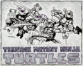 Original Comic Art:Illustrations, Kevin Eastman Teenage Mutant Ninja Turtles Pin-Up Original Art (Mirage Studios, 1983).... (Total: 2 Original Art)