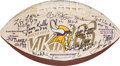 Football Collectibles:Balls, Circa 2000 Hall of Famers Multi Signed Football - Paul Krause Collection....
