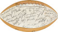 Football Collectibles:Balls, 1965 Eastern Conference Pro Bowl Team Signed Football - Paul Krause Collection....