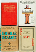 Books:Non-fiction, [Deception]. Group of Four Books. Includes Only Saps Work: A Ballyhoo for Racketeering, The Compleat Swindler, Defrauding ... (Total: 4 Items)