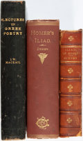 Books:Literature Pre-1900, [Homer]. Group of Three Books. Includes two copies of Homer'sIliad and Lectures on Greek Poetry. Variouspublishers... (Total: 3 Items)