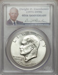 Eisenhower Dollars: , 1976-S $1 Silver MS68 PCGS. CAC. PCGS Population (605/0). NGC Census: (73/0). Mintage: 11,000,000. Numismedia Wsl. Price fo...