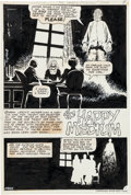 Original Comic Art:Splash Pages, Demetrio Sánchez Gómez Ghostly Haunts #53 Splash Page 1 and2 Original Art Group (Charlton, 1976).... (Total: 2 Original Art)
