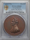 Betts Medals, Captain Cook Royal Society. Bronze. MS65 PCGS Secure. Betts-553,Eimer-780....