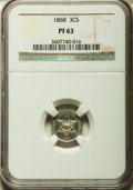 Proof Three Cent Silver: , 1868 3CS PR63 NGC. NGC Census: (43/180). PCGS Population (71/140).Mintage: 600. Numismedia Wsl. Price for problem free NGC...