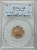 Flying Eagle Cents, 1857 1C MS64 PCGS. ...